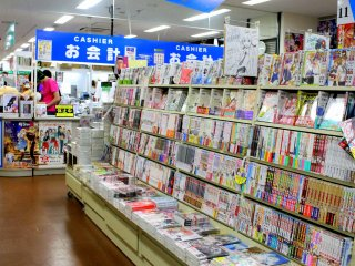 On display are a variety of eye-catching doujinshi - independently published literary materials, like manga, novels and magazines - created by artists mostly from Kansai