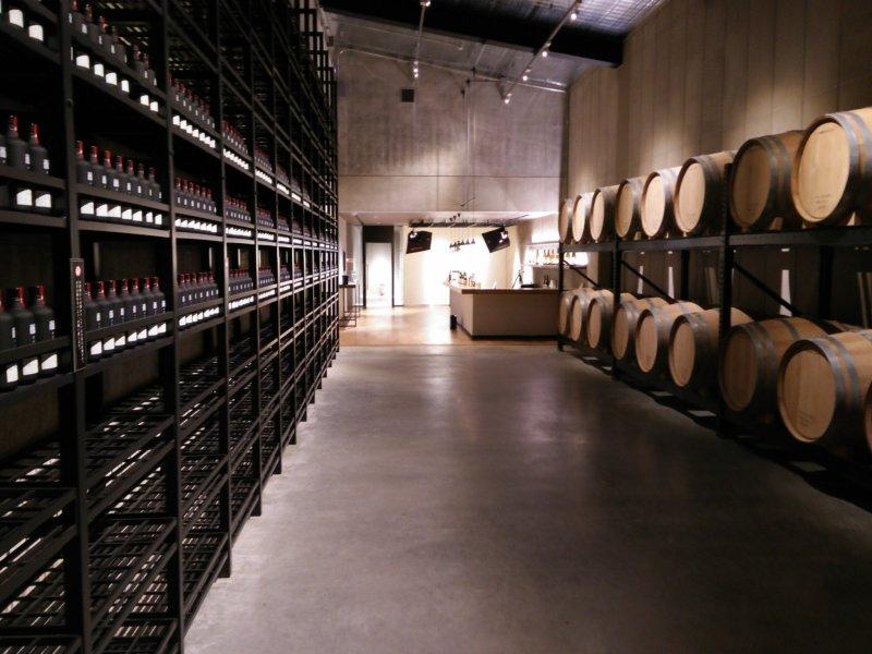 <p>Shochu barrels in the Hakkai-san tasting room</p>