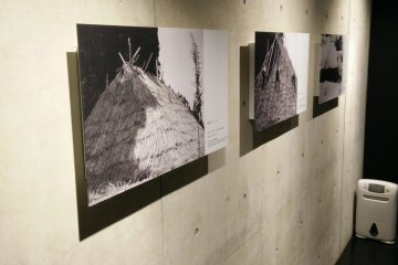 <p>Photographs of traditional snow storage that would give ice in summer months</p>