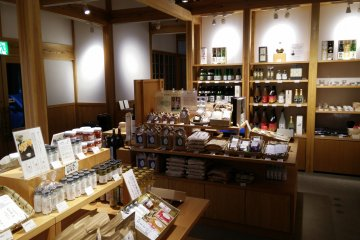 <p>Local Niigata produce in one of the shops</p>