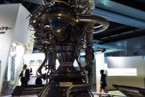 A satellite engine on display in the museum
