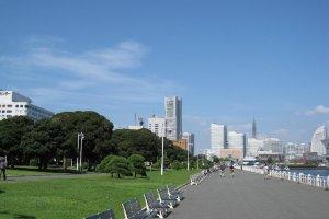 View of Minato Mirai from Yamashita Park.