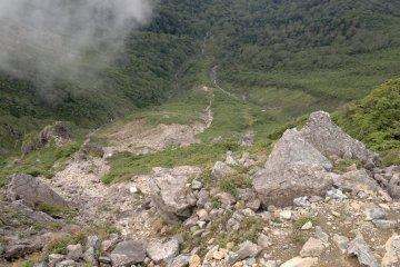 <p>Nice view down the mountain</p>