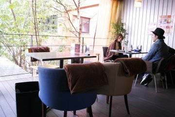 <p>Tables at the terrace on the 2nd floor</p>