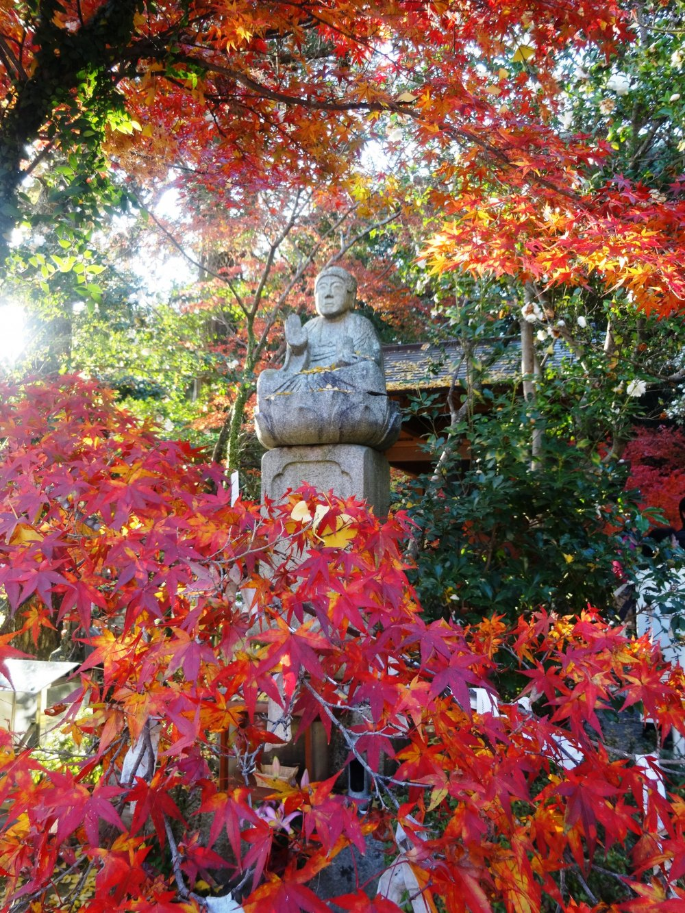 A buddha statue at nearby Jizo-in