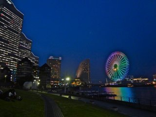 Rinko Park stretches out to the 3 luxury hotels and amusement park.