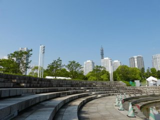 The park has an amphitheater that is used for special events..