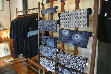 <p>The souvenir shop in the house adjoining the Indigo Studio</p>