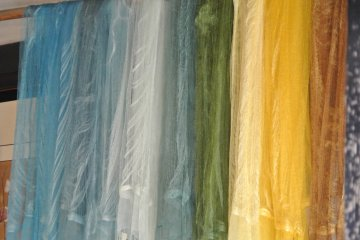 <p>Various shades due to the mordant dye additives - It&#39;s like magic...</p>