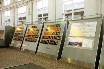 <p>Locomotive numbers on display</p>