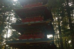 Gojunoto > เจดีย์ 5 ชั้นนี้สร้างอุทิศถวายโดยขุนนางชั้งสูง Sakai Tadakatsu แห่งเมืองโอบามะ (Obama) จ.วากาซะ (Wakasa) (ปัจจุบันเป็น จ.ฟุคุอิ (Fukui)) แต่ละชั้นนั้นสื่อถึงธาตุทั้ง 5 อันได้แก่ ดิน, น้ำ, ลม, ไฟ, อากาศ เจดีย์นี้ถูกสร้างขึ้นเมื่อปี ค.ศ.1648 แต่ก็ถูกไฟไม้จนวอดในปี ค.ศ.1815 และถูกสร้างขึ้นมาใหม่ในปี ค.ศ.1818 โดยขุนนาง Sakai Tadayuki ผู้เป็นขุนนางในตระกูลเดียวกันกับท่าน Sakai Tadakatsu นั่นเอง และเจดีย์นี้ยังได้รับการขึ้นทะเบียนให้เป็นทรัพย์สินทางวัฒนธรรมอันสำคัญ (Important Cultural Property) ของญี่ปุ่นอีกด้วย