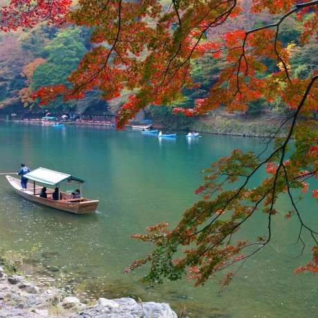 Autumn on Arashiyama's Hozu River