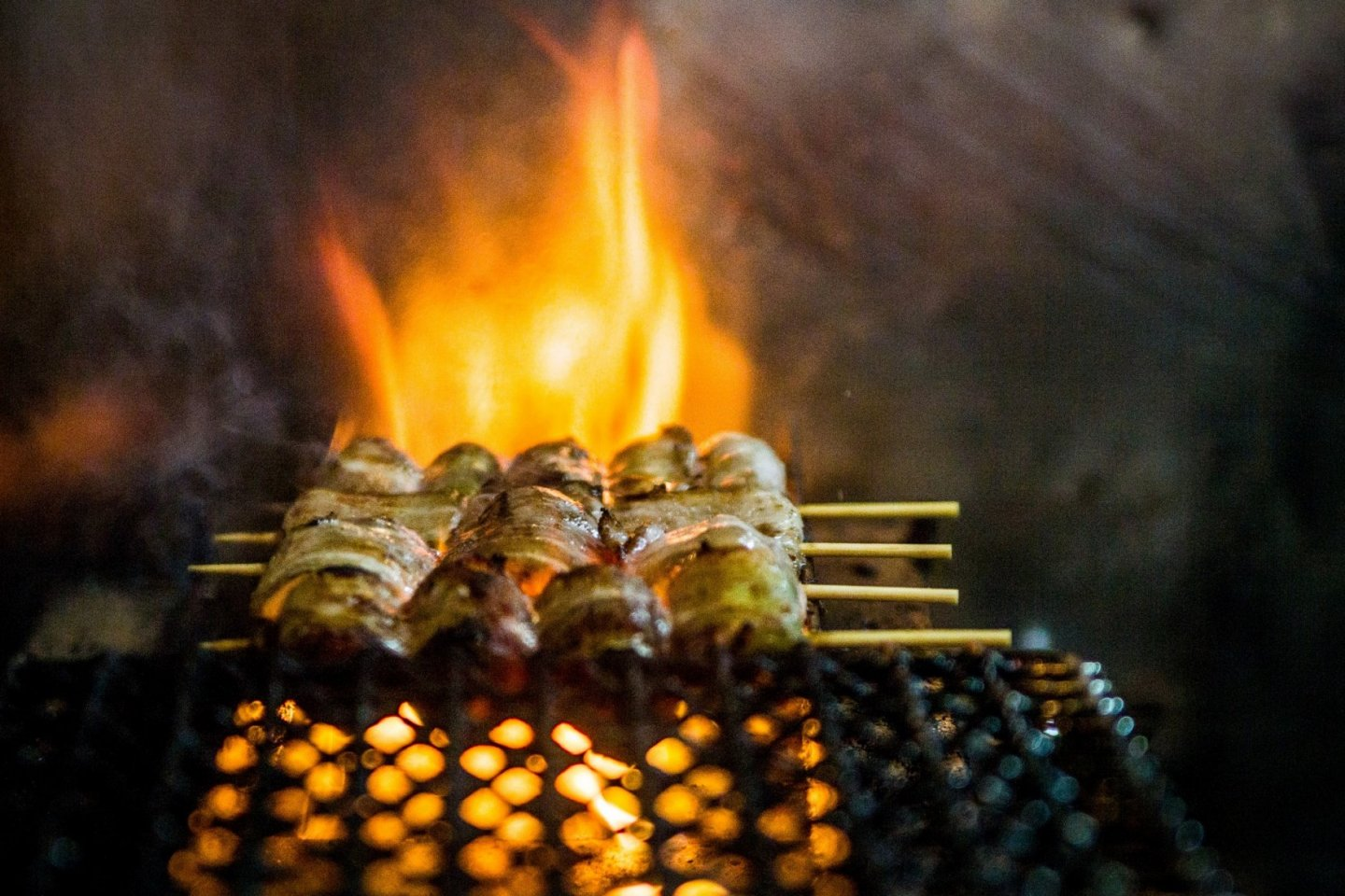 Yakitori is an iconic street food that is served all over