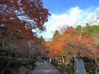 Entrada multi-colorida do Parque Kakyo na cidade de Echizen, Fukui