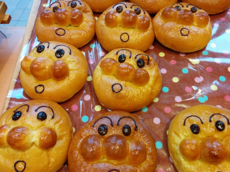 <p>Uncle Jam&#39;s Bakery makes a whole host of baked goods modeled after Anpanman characters&nbsp;</p>
