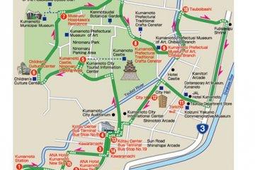 <p>อีกแผนที่หนึ่งของเส้นทางการเดินรถ&nbsp;Kumamoto Castle Loop Bus (Shiromegurin)</p>
