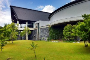 The lawns behind the Ehime Museum of History & Culture