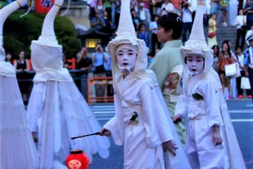 The white birds of Gion Matsuri