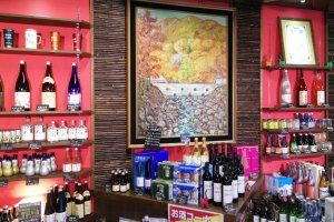 Local art and sake