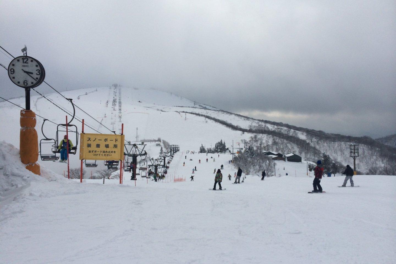 Lintasan ski yang tidak terlalu terjal