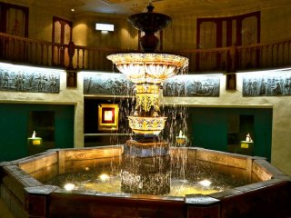 The big and beautiful 'Aurora' fountain inside the factory museum.