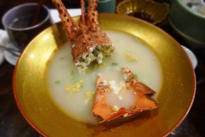 Soup of spiny lobster