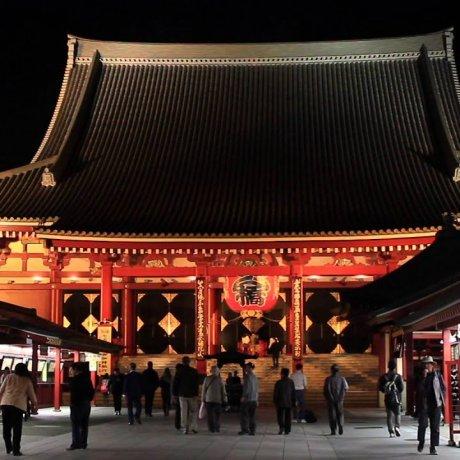 Asakusa di Malam Hari