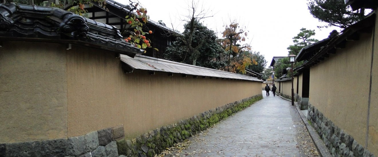 Narrow streets of the Nagamachi Samurai District in Kanazawa
