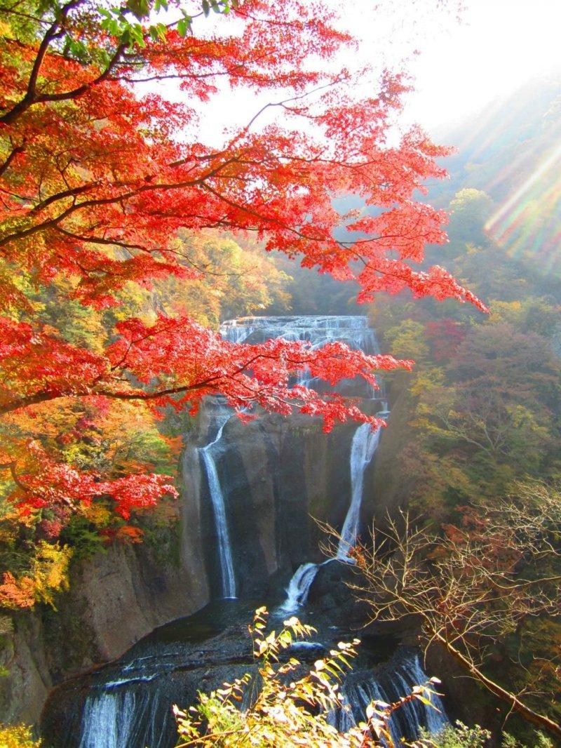 View of Fukuroda Falls from the top of the viewing platform