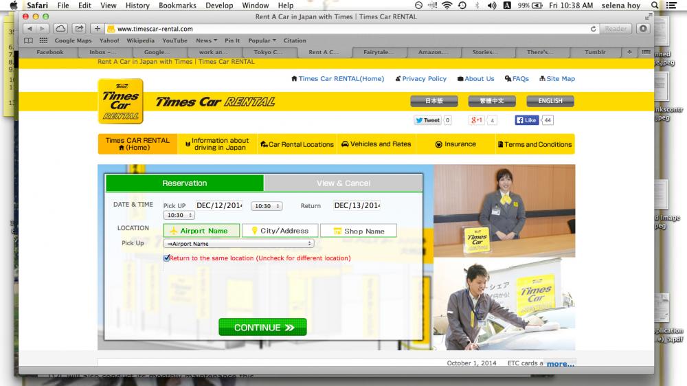 Trước tiên, hãy đặt chỗ trên trang web của họ. Họ có các tùy chọn tiếng Nhật, tiếng Trung và tiếng Anh. Điều này mất khoảng năm phút.