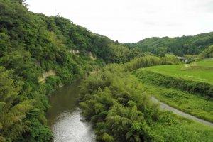 Rivers through the landscape