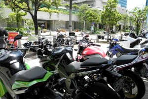 A large selection of bikes