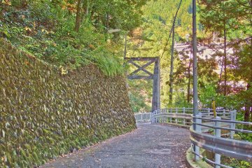 <p>The slope leading down to Unzen Bridge and beyond</p>