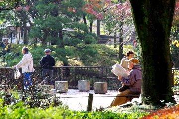 스타디움 옆에 위치한 일본 정원