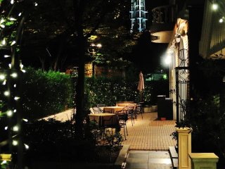 A restaurant inside Kobe East Pleasure Park which is located on the south side of Kobe City Office