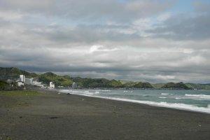 Dark grey beaches the more you go south