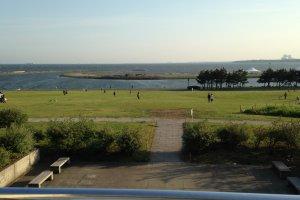 Вид на океан в Парке Ринкай Коэн