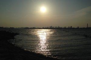 Закат в Парке Ринкай Коэн