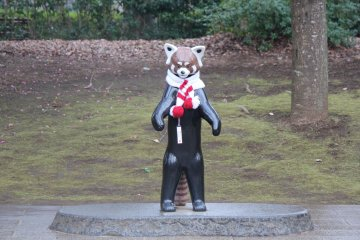 <p>This statue of &quot;Futa the Red Panda&quot; was donated by the community and is a perfect place to pose with the family.</p>