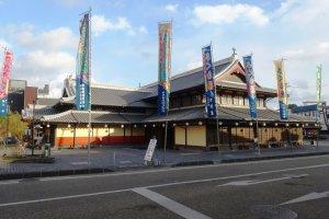The restored Sakura-yu bathhouse on the Buzen Way