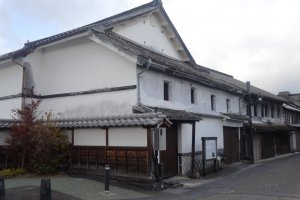 An old rice storehouse along the Kikuchi River