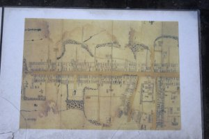 An old historical map of the Buzen Way