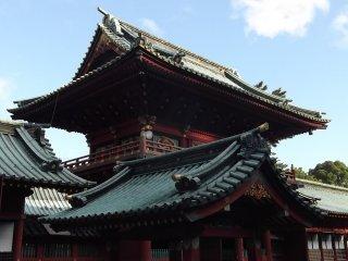 Alguns dos edifícios do santuário