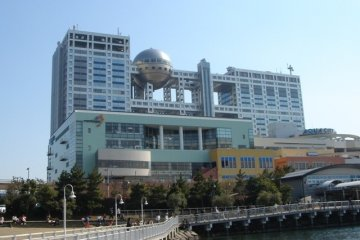 <p>Distinctive-looking building in Odaiba</p>