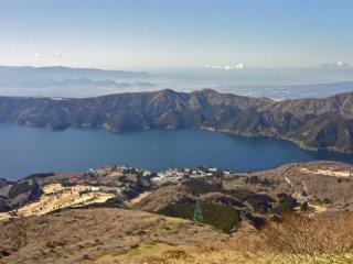 Vue sur le lac depuis le Mont Komagatake