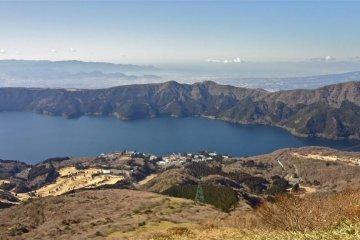 从駒之岳眺望芦之湖