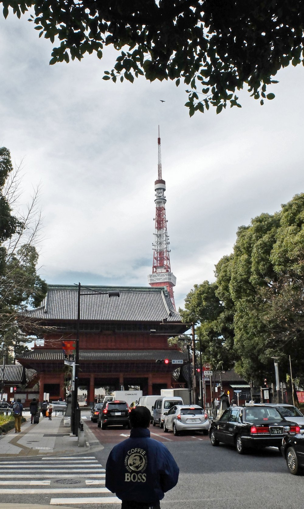 Tokyo Tower can be seen from afar and it is an important part of the city of Tokyo.