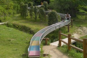 the long slide down at Utsukushi Mori, Setouchi City, Okayama