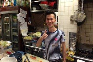 中華料理屋出身の料理長。運が良ければ限定の本格中華料理が楽しめることも。