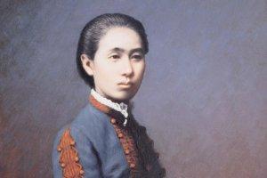 荻野吟子肖像 35歳、医術開業試験合格の記念に撮ったもの (写真提供:熊谷市)